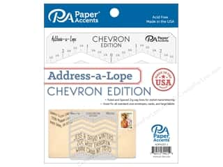 Paper Accents Address-a-Lope Plastic Template Chevron