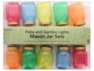craft & hobbies: Sierra Pacific Crafts Lights Mason Jar 10 ct Multi/White Wire