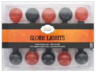 craft & hobbies: Sierra Pacific Crafts Lights Globe 10 ct Black & Orange/Black Cord