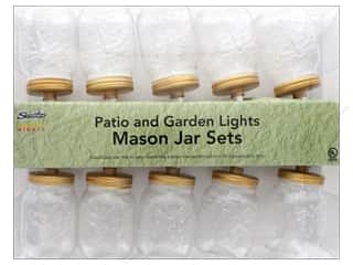 craft & hobbies: Sierra Pacific Crafts Lights Mason Jar 10 ct Clear/White Cord