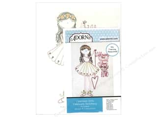 Clearance: Adornit Artplay Fabric Monthly Stitchery Calendar Girls February