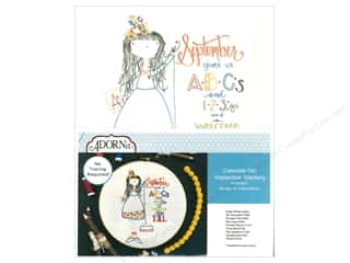 yarn & needlework: Adornit Artplay Fabric Monthly Stitchery Calendar Girls September