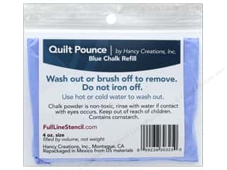 Hancy Mfg Quilt Pounce Refill Chalk Blue 4 oz