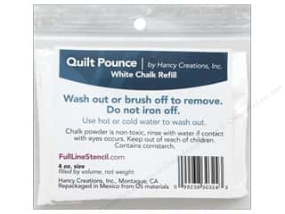 Hancy Mfg Quilt Pounce Refill Chalk White 4 oz