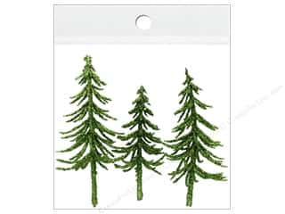 craft & hobbies: Sierra Pacific Crafts Decor Filler Trees With Gold Glitter 3 pc Green
