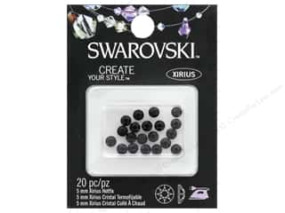beading & jewelry making supplies: Cousin Swarovski Hotfix 5mm Jet 20pc