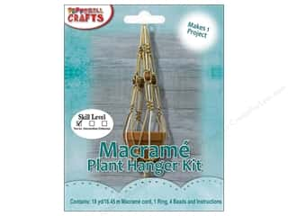 projects & kits: Pepperell Kits Macrame Modern Plant Hanger