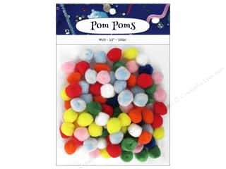 craft & hobbies: PA Essentials Pom Poms 1/2 in. Multi 100 pc.