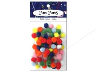 PA Essentials Pom Poms 3/8 in. Multi 100 pc.