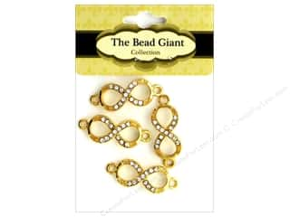 beading & jewelry making supplies: The Bead Giant Bead Infinity Small Gold 4pc