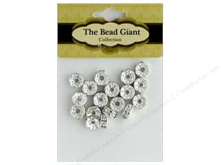 The Bead Giant Bead Disc Rhinestone 7mm Silver 18pc
