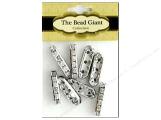 beading & jewelry making supplies: The Bead Giant Bead Spacer 3 Hole Silver 8pc
