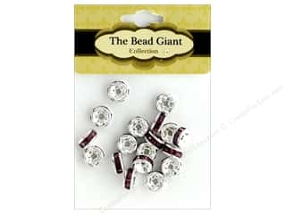 beading & jewelry making supplies: The Bead Giant Bead Disc Rhinestone 7mm Purple 18pc