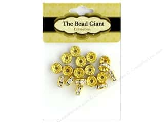 beading & jewelry making supplies: The Bead Giant Bead Disc Rhinestone 7mm Gold 18pc