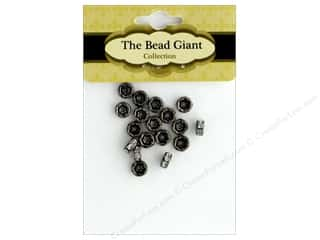 beading & jewelry making supplies: The Bead Giant Bead Disc Rhinestone 7mm Black/Crystal 18pc