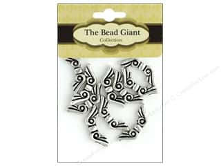 beading & jewelry making supplies: The Bead Giant Bead Angel Wing 19mm Silver 10pc