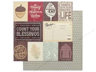 "scrapbooking & paper crafts: Authentique Collection Bountiful Paper 12"" x 12"" Eight (25 pieces)"