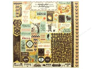 "Authentique Collection Bountiful Sticker 12"" x 12"" Details (12 pieces)"