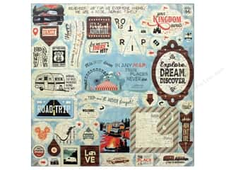 "scrapbooking & paper crafts: Authentique Collection Pastime Sticker 12""x 12"" Details (12 pieces)"
