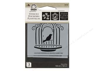 craft & hobbies: Plaid Folkart Mini Stencils - Cottage Chic