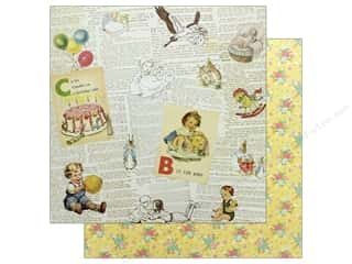 "scrapbooking & paper crafts: Authentique Collection Beginnings Paper 12""x 12"" One (25 pieces)"