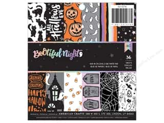 "bootiful: American Crafts Collection BOOtiful Night Paper Pad 6""x 6"""