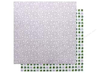 """Clearance: Bo Bunny Collection Garden Party Paper 12""""x 12"""" Serenity (25 pieces)"""