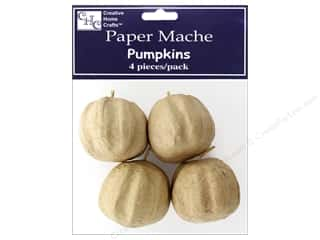 PA Paper Mache Pumpkin Mini 4pc