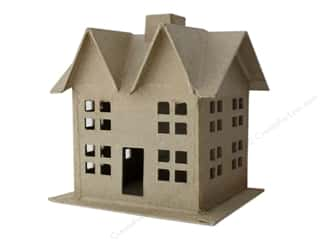 craft & hobbies: PA Paper Mache 3D House Small Style C