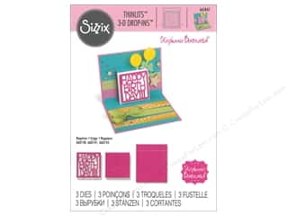 die cuts: Sizzix Dies Stephanie Barnard Thinlits 3D Drop Ins Happy Birthday