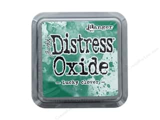 stamps: Ranger Tim Holtz Distress Ink Pad Oxide Lucky Clover