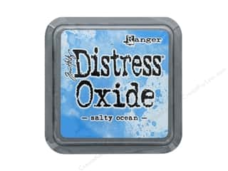 stamps: Ranger Tim Holtz Distress Oxide Ink Pad Salty Ocean