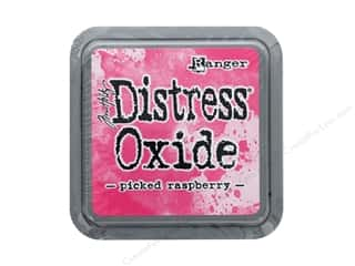 stamps: Ranger Tim Holtz Distress Oxide Ink Pad Picked Raspberry