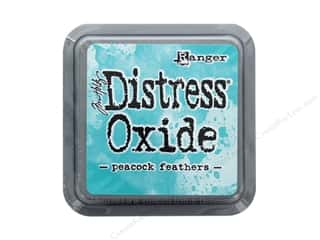 Feathers: Ranger Tim Holtz Distress Ink Pad Oxide Peacock Feathers