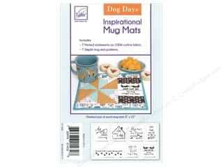 June Tailor Kit Inspirational Mug Mat Cotton Panel Dog Days