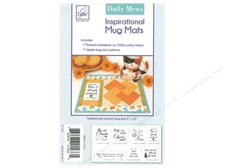 June Tailor Patterns Inspirational Mug Mat Panel Daily Mews & Pattern