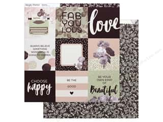 "Simple Stories Collection Beautiful Paper 12""x 12"" Elements 4""x 4"" (25 pieces)"