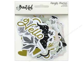die cuts: Simple Stories Collection Beautiful Die Cuts Bits & Pieces