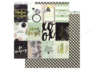 Simple Stories Collection Beautiful Paper 12 in. x 12 in.  Journaling Card Elements 3 in. x 4 in. (25 pieces)