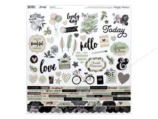 "Clearance: Simple Stories Collection Beautiful Sticker Combo 12""x 12"" (12 pieces)"