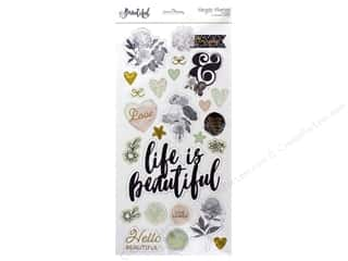 "Simple Stories Collection Beautiful Sticker Chipboard 6""x 12"""