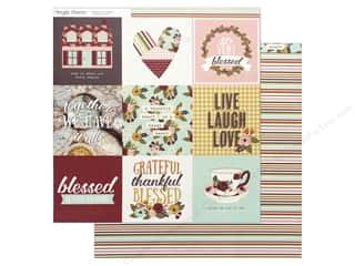 Simple Stories Collection Vintage Blessing Paper 12 in. x 12 in.  Elements 4 in. x 4 in. Picture