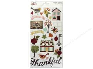 scrapbooking & paper crafts: Simple Stories Collection Vintage Blessing Sticker Chipboard 6 in. x 12 in.