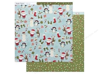 Simple Stories Collection Oh What Fun Paper 12 in. x 12 in.  Hey Santa (25 pieces)