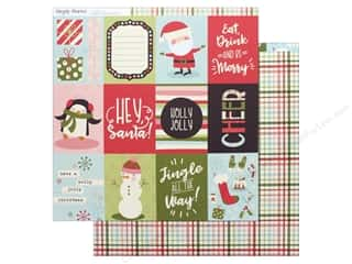 Simple Stories Collection Oh What Fun Paper 12 in. x 12 in.  Journaling Card 3 in. x 4 in. Elements (25 pieces)