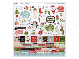 scrapbooking & paper crafts: Simple Stories Collection Oh What Fun Combo Cardstock Sticker 12 in. x 12 in. (12 pieces)