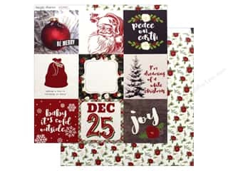 Simple Stories Collection Very Merry Paper 12 in. x 12 in.  Elements 4 in. x 4 in. (25 pieces)