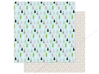 """Bella Blvd Santa Stops Here Paper 12""""x 12"""" Through The Woods (25 pieces)"""