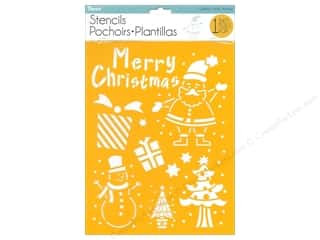 craft & hobbies: Darice Craft Stencil 8 1/2 x 11 in. Christmas