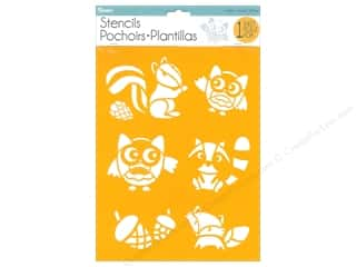 craft & hobbies: Darice Craft Stencil 8 1/2 x 11 in. Woodland Animal